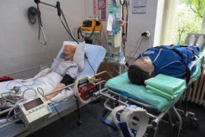 Odborná učebna urgentní medicíny s elektronickým pacientským modelem v simulovaném lůžku ARO/JIP